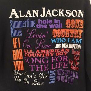Vintage Sweaters - Vintage Alan Jackson 1995 Sweatshirt XL
